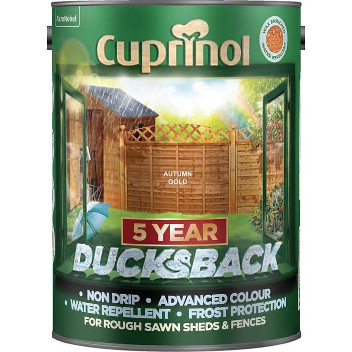 Cuprinol Ducksback for Sheds and Fences 5Ltr Free C&C