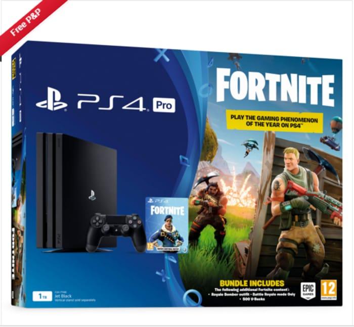 PS4 Pro 1TB Fortnite Battle Royale Bundle Console Only £349.85