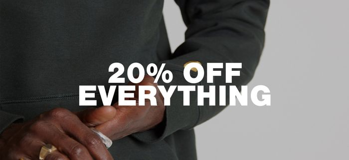 20% off is Available on All Full Priced Items excluding Sale Items