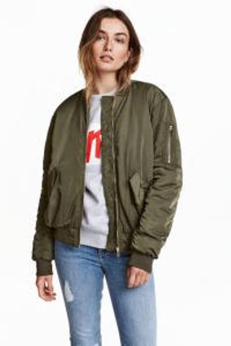 Oversized Bomber Jacket Only £11.99