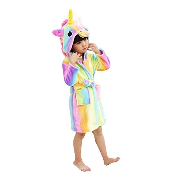Kids Soft Unicorn Bathrobe