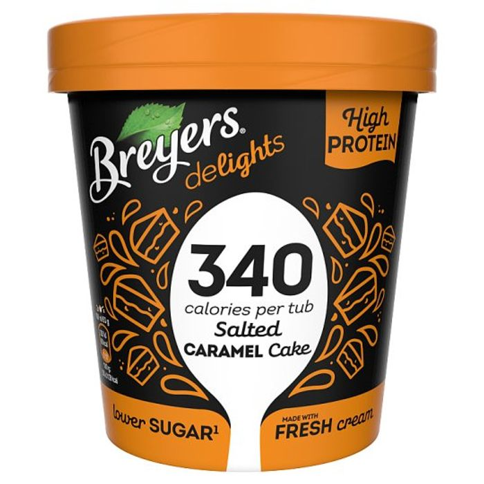 Breyers Salted Caramel Cake Low Calorie Ice Cream 500Ml