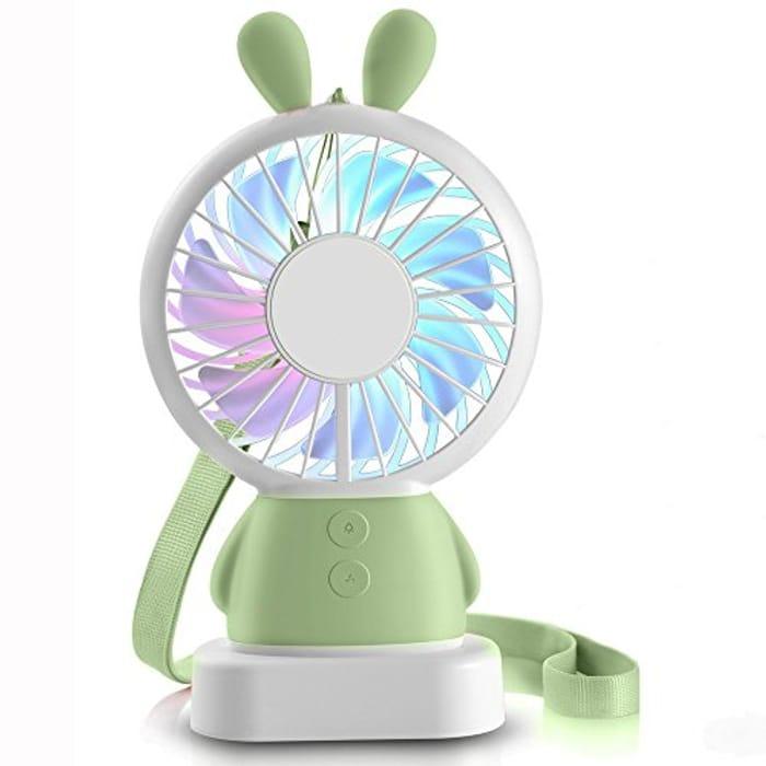 50% off Hebey Handheld Mini Fan Portable Rechargeable Fan Thin Cooling Fan
