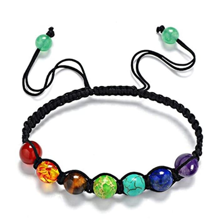 7 Chakra Bracelet Reiki Rainbow Quartz Bracelet