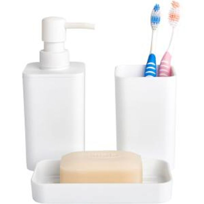 Cheap Wilko Bathroom Set White Free C&C