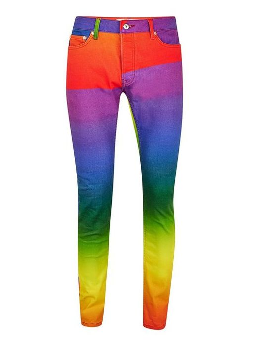Rainbow Stretch Skinny Jeans