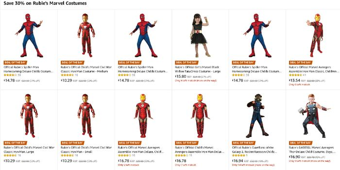Today Only - save 30% on Rubie's Marvel Costumes