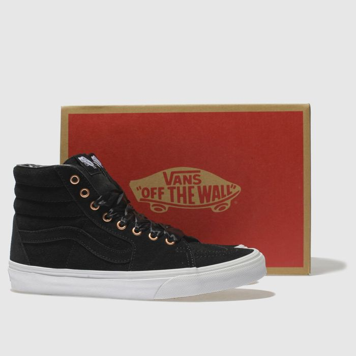 23b22febbac Vans Black   Rose Gold Sk8-Hi Trainers