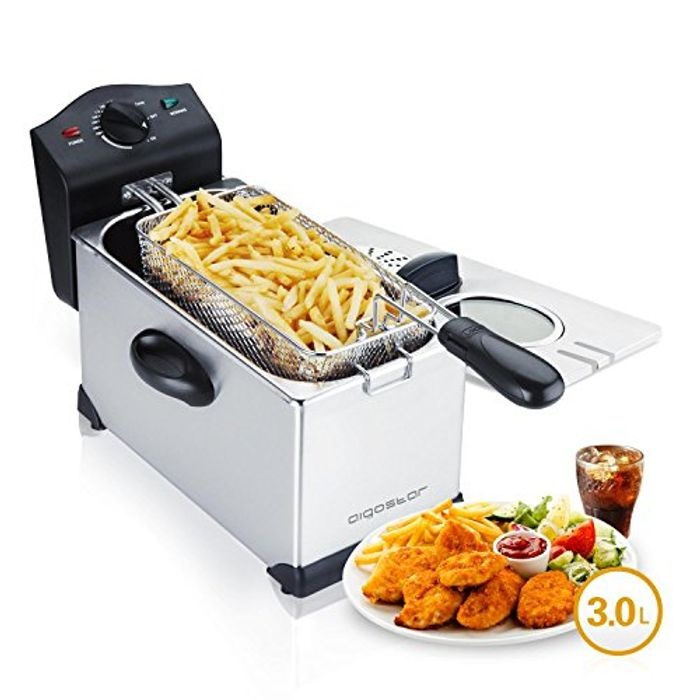 Deep Fryer 2200 Watts, 3L, with Viewing Window, Temperature Control
