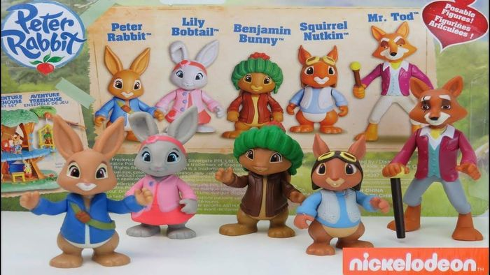 Peter Rabbit Toys Figurines Figures Collectables Pack of 5