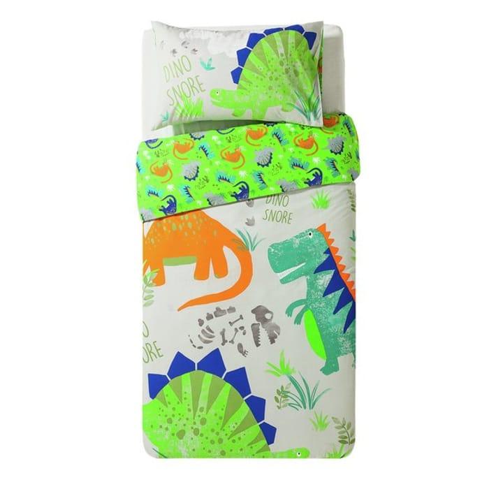 Home Dino Snore Bedding Set - Toddler @Argos