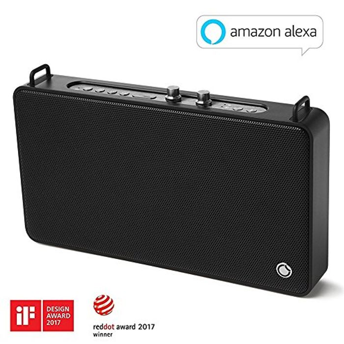 Wireless Bluetooth Wi-Fi Airplay Speaker with Alexa and 20W Bass Stereo Sound