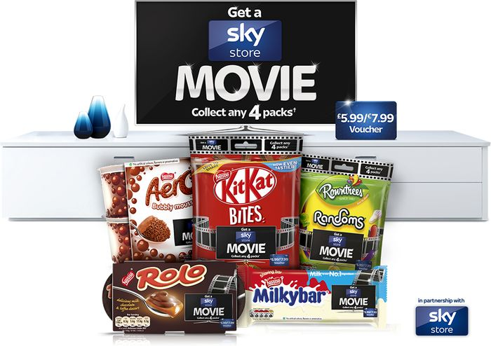 Free Sky Movie with Purchase of 4x Nestlé Promotional Products