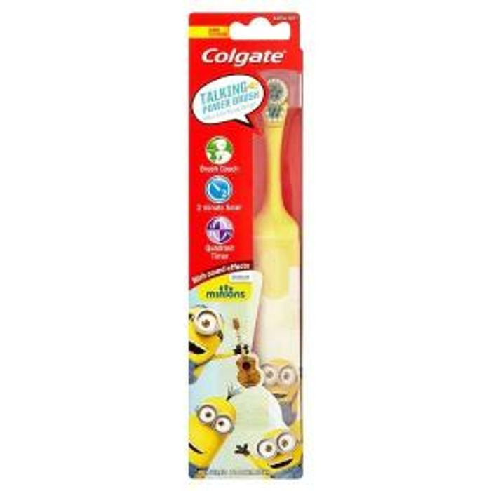 Colgate Minions Talking Extra Soft Kids Battery Toothbrush Only £2.99