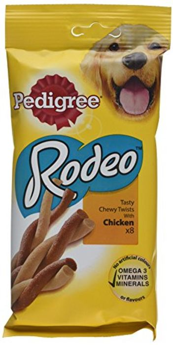 Pedigree Rodeo Dog Treats with Chicken 8 Stick - Pack of 12 (96 Treats)
