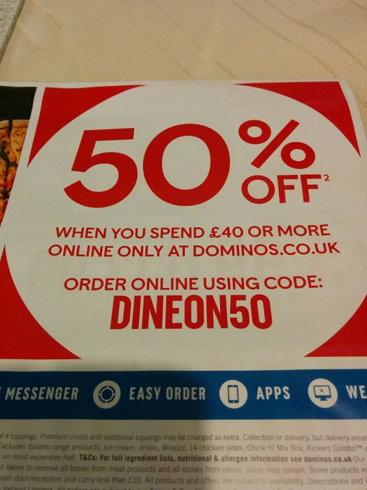 50% off £40 or More