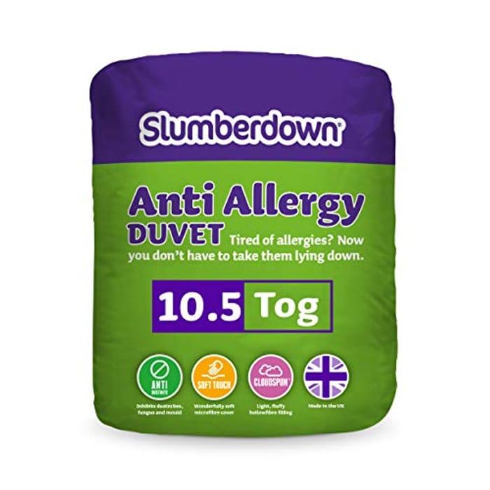 Slumberdown Anti Allergy 10.5 Tog Duvet - King Size, White