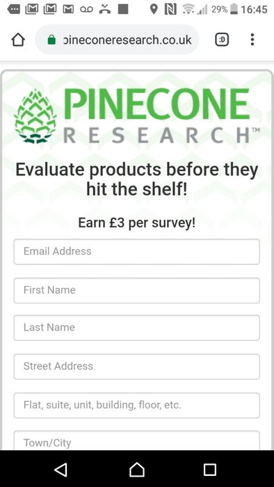 Earn £3 a Survey and the Possibility of Testing Products