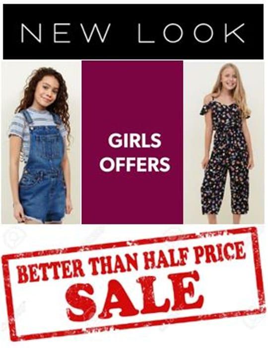 NEW LOOK GIRLS / TEENS SALE - Better than HALF PRICE BARGAINS!