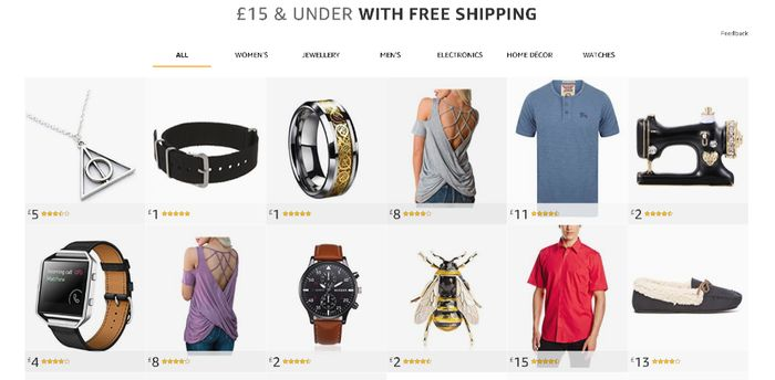 Bargains from £1 with FREE SHIPPING at Amazon