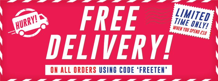Free Delivery on Orders Over £10 at the Works
