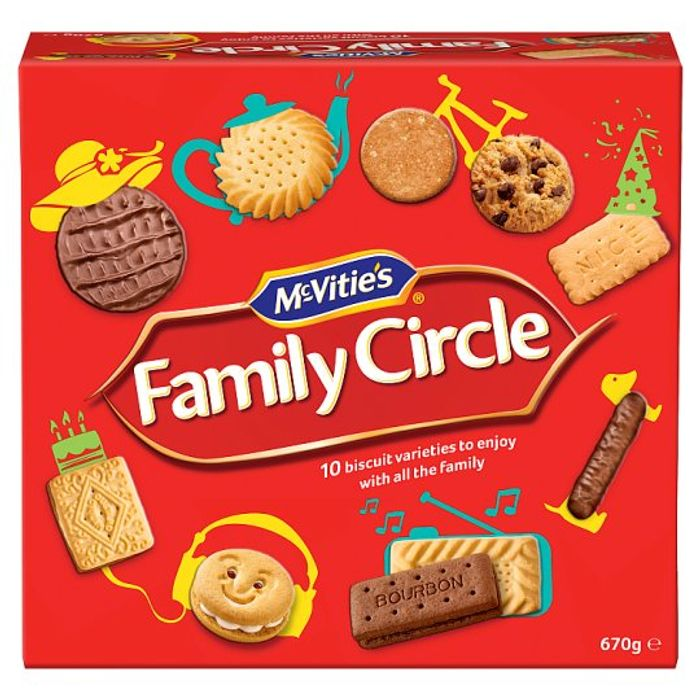 Mcvities Family Circle Biscuits 670G