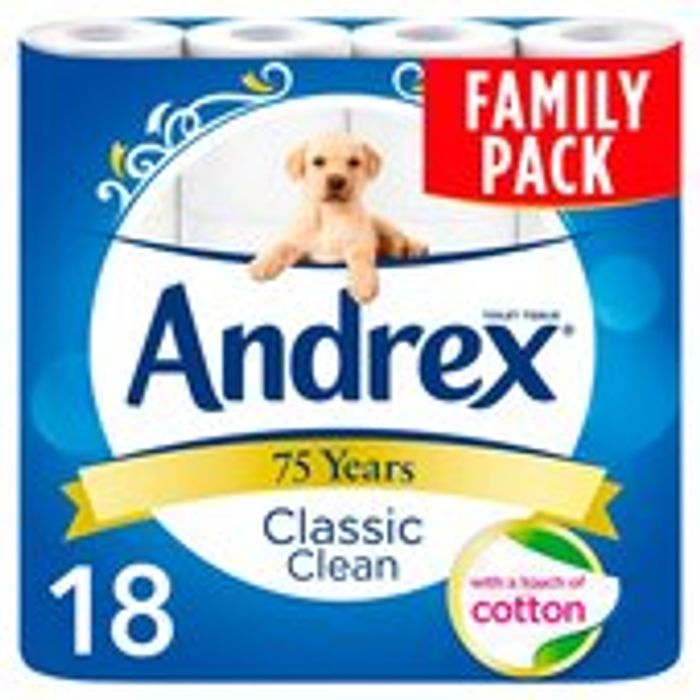 18 Andrex Toilet Rolls Only £6