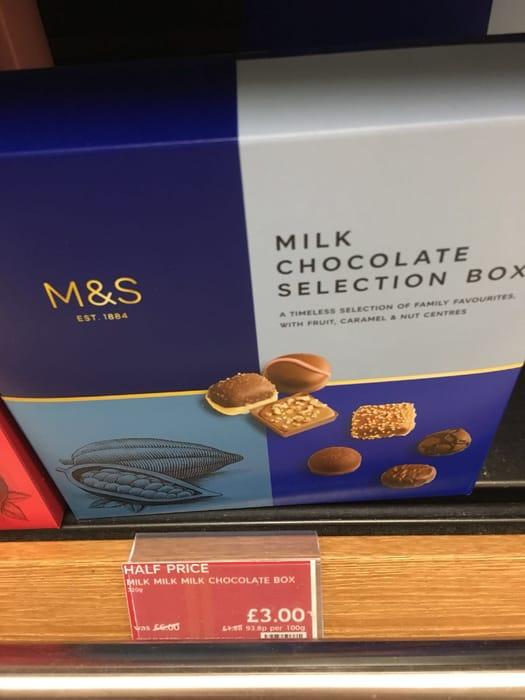 Half Price M&S Milk Chocolate Selection
