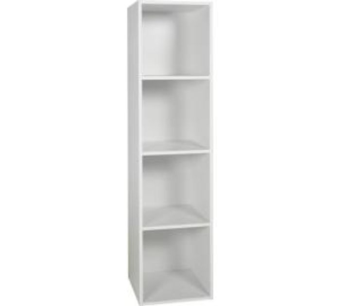 Argos Home Phoenix 4 Cube Storage Unit - White Only £14.99