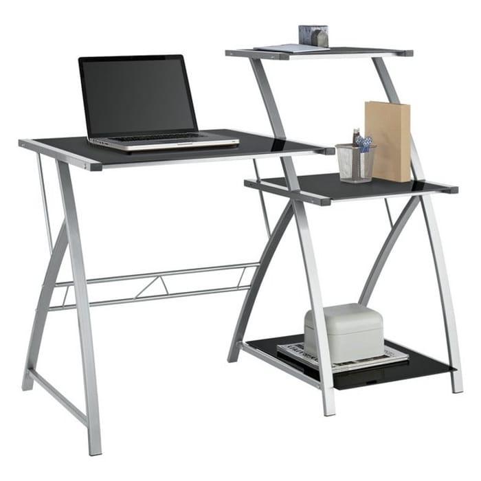Argos Home Glass Desk with Shelf