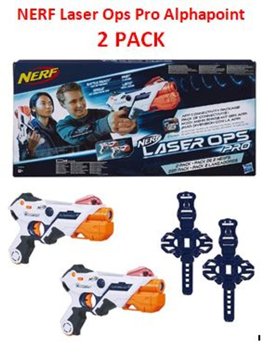 NERF Laser Ops Pro Alphapoint Blasters As Seen on Phillip Schofield Show Sale