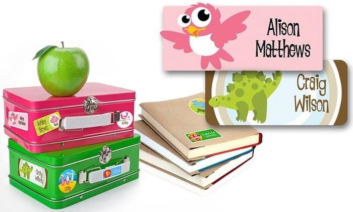 Dinkleboo 48 Personalised Kids Name Labels