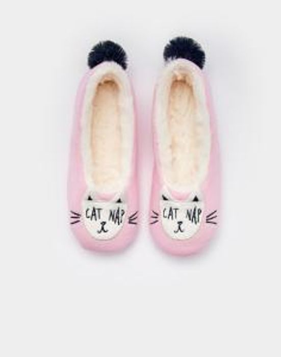 Joules Dreama Cat Nap Slippers - Only £3