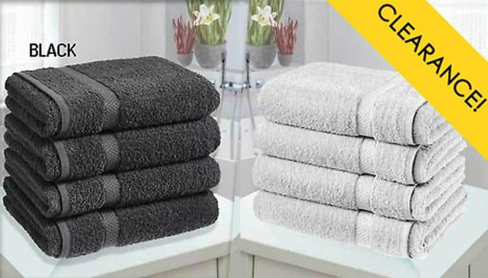 SAVE £65 - 4 X Egyptian Cotton Bath Sheets - 10 Colours
