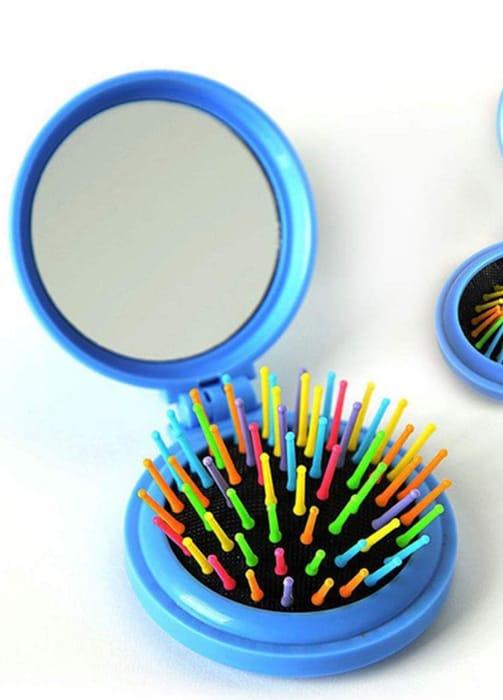 Rainbow Brush and Mirror