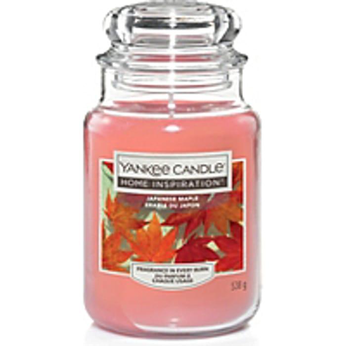 SAVE £4 Large Yankee Candle - Japanese Maple