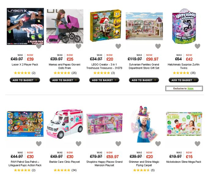 200+ Toy Bargains in the New Asda George Sale