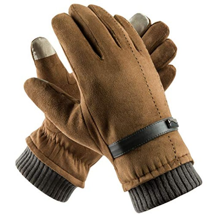 Mens Winter Warm Gloves Touchscreen
