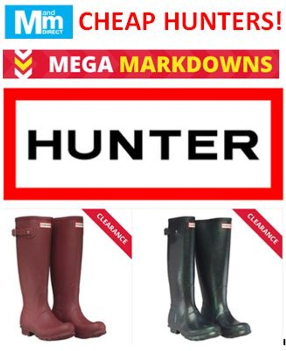 HUNTER WELLIES Half Price or Less up to 75% OFF, £28.99