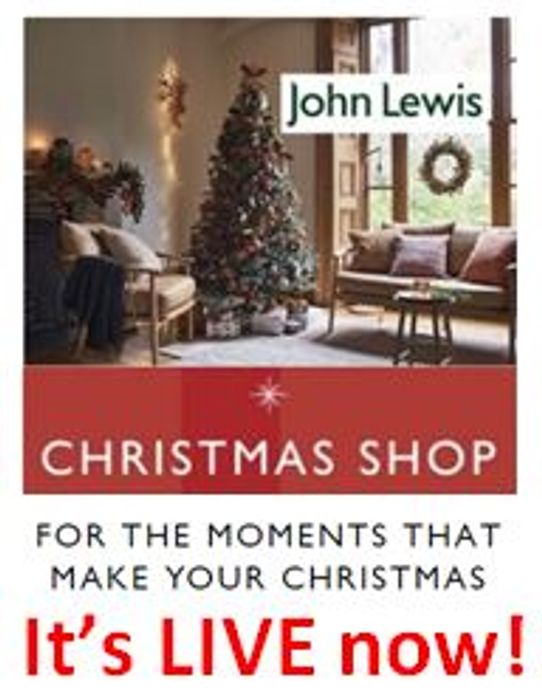 John Lewis CHRISTMAS SHOP - One of the best!