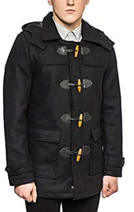 Only & Sons Men's Duffle Coat - Size Large (£4.39 Delivery for Non-Prime)