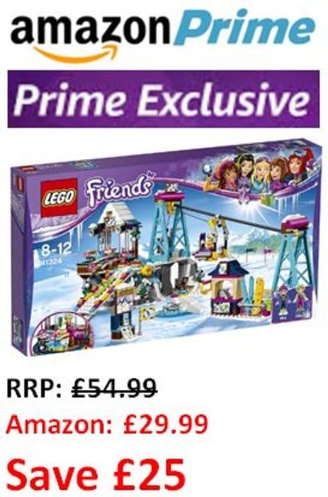 ALMOST HALF PRICE. Prime Exclusive: LEGO Friends Snow Resort Ski Lift 41324
