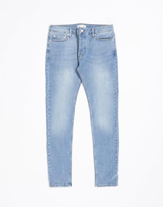 THE IDLE MAN Stretch Skinny Fit Stonewash Jeans