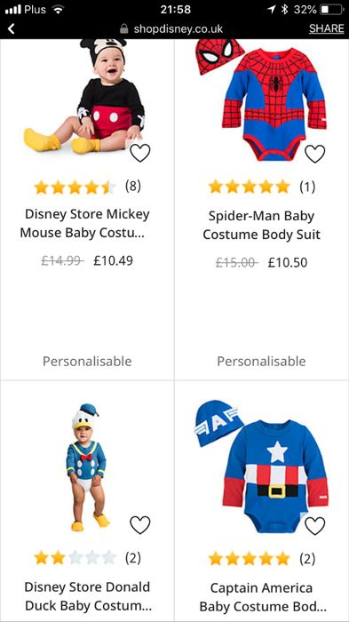 30% off Baby Costumes
