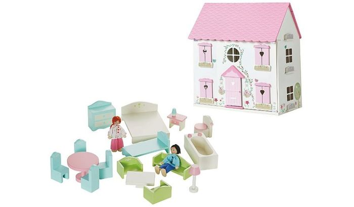 George Home Wooden Dolls House Furniture Set 35 At Asda