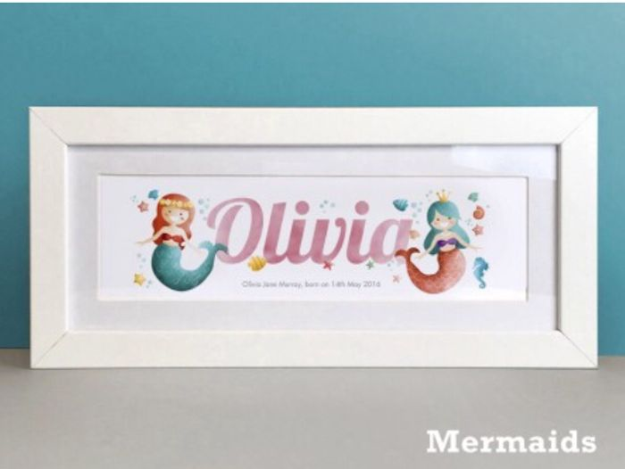Framed Personalised Name Print from Frame My Name