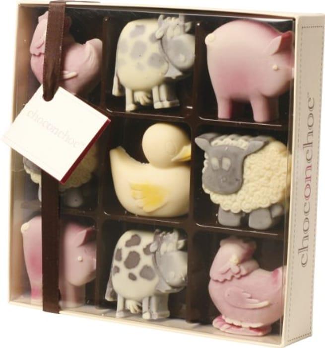 CHO Chocolate Farmyard Box by Chocolate on Chocolate