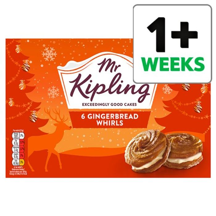 Mr Kipling Gingerbread Whirls 6 Pack