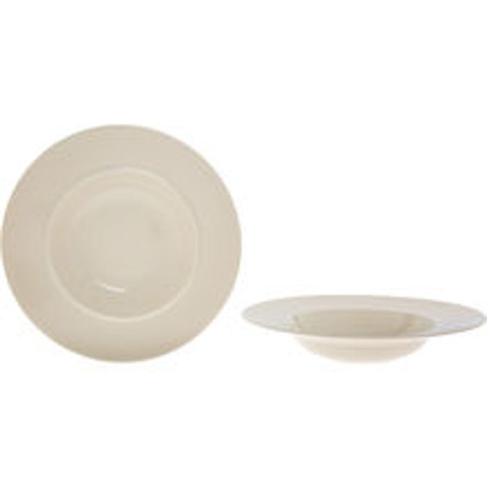 ALESSI Two Cream Bella Tavola Soup Bowls