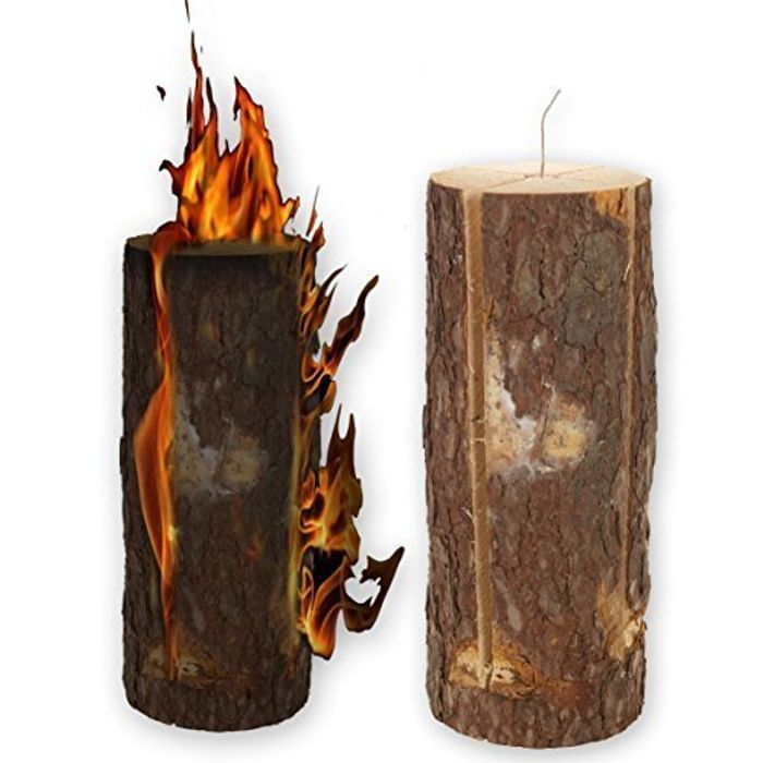 Halloween & Guy Fawkes Are Coming - Get Your Swedish Fire Log Candle Torch!